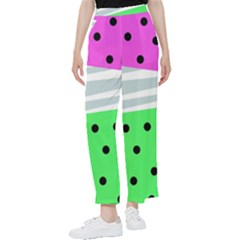Dots And Lines, Mixed Shapes Pattern, Colorful Abstract Design Women s Pants  by Casemiro