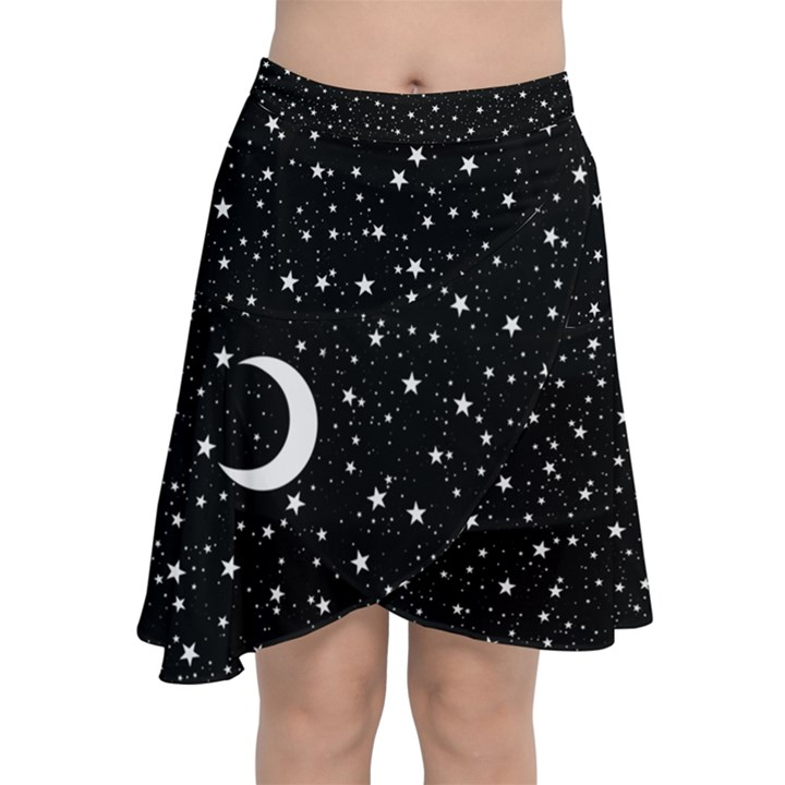 Witchy Wonder Chiffon Wrap Front Skirt