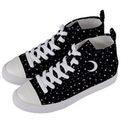 Witchy Wonder Women s Mid-top Canvas Sneakers by wearablemagic