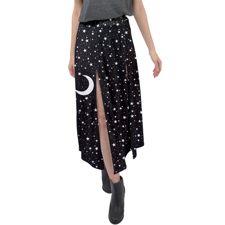 Witchy Wonder Velour Split Maxi Skirt