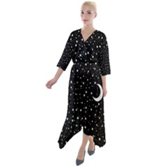 Witchy Wonder Quarter Sleeve Wrap Front Maxi Dress by wearablemagic