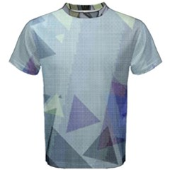 Light Blue Green Grey Dotted Abstract Men s Cotton Tee by Graphika