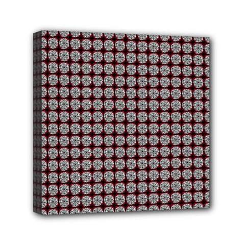 Red Halloween Spider Tile Pattern Mini Canvas 6  X 6  (stretched) by snowwhitegirl