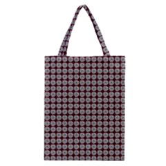 Red Halloween Spider Tile Pattern Classic Tote Bag