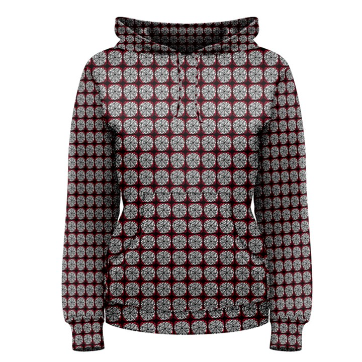 Red Halloween Spider Tile Pattern Women s Pullover Hoodie