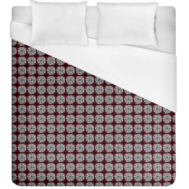 Red Halloween Spider Tile Pattern Duvet Cover (King Size)