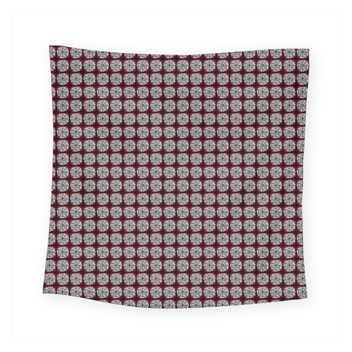 Red Halloween Spider Tile Pattern Square Tapestry (Small)