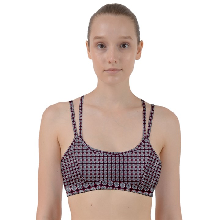 Red Halloween Spider Tile Pattern Line Them Up Sports Bra