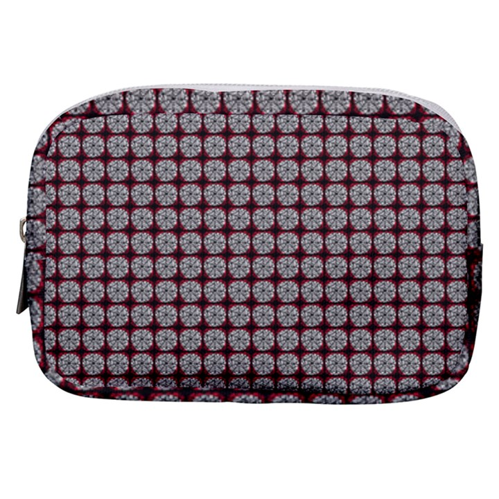 Red Halloween Spider Tile Pattern Make Up Pouch (Small)