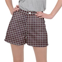 Red Halloween Spider Tile Pattern Ripstop Shorts