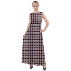 Red Halloween Spider Tile Pattern Chiffon Mesh Boho Maxi Dress