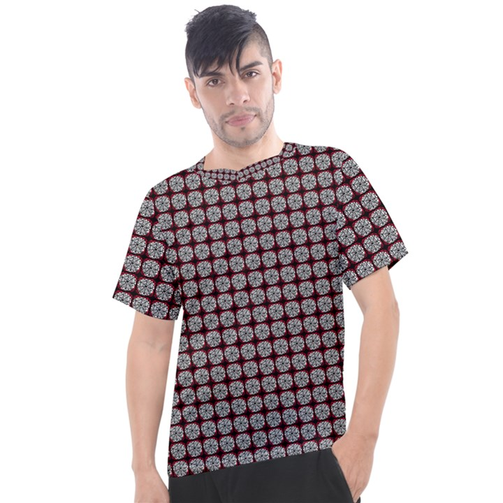 Red Halloween Spider Tile Pattern Men s Sport Top