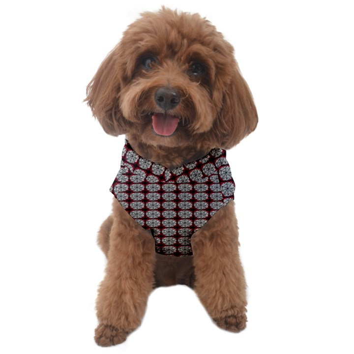 Red Halloween Spider Tile Pattern Dog Sweater