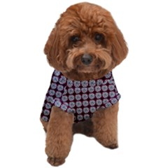 Red Halloween Spider Tile Pattern Dog T-shirt