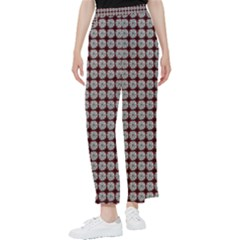 Red Halloween Spider Tile Pattern Women s Pants