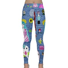 Blue Denim And Drawings Classic Yoga Leggings