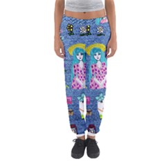 Blue Denim And Drawings Women s Jogger Sweatpants
