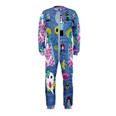 Blue Denim And Drawings OnePiece Jumpsuit (Kids)