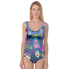 Blue Denim And Drawings Princess Tank Leotard