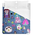Blue Denim And Drawings Duvet Cover (Queen Size) View1