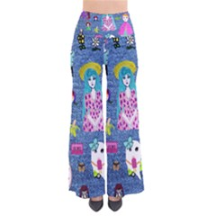 Blue Denim And Drawings So Vintage Palazzo Pants
