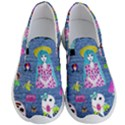 Blue Denim And Drawings Men s Lightweight Slip Ons View1