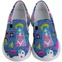 Blue Denim And Drawings Kids Lightweight Slip Ons View1