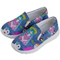 Blue Denim And Drawings Kids Lightweight Slip Ons View2
