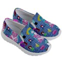 Blue Denim And Drawings Kids Lightweight Slip Ons View3