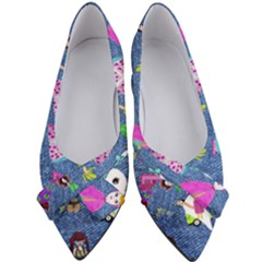 Blue Denim And Drawings Women s Bow Heels