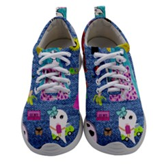 Blue Denim And Drawings Athletic Shoes