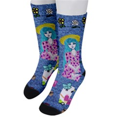 Blue Denim And Drawings Men s Crew Socks