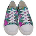 Blue Denim And Drawings Daisies Aqua Women s Low Top Canvas Sneakers View1