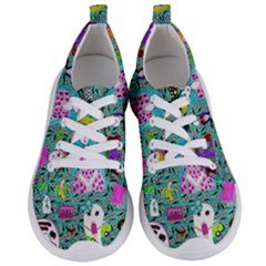 Blue Denim And Drawings Daisies Aqua Women s Lightweight Sports Shoes