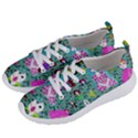 Blue Denim And Drawings Daisies Aqua Women s Lightweight Sports Shoes View2