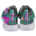 Blue Denim And Drawings Daisies Aqua Women s Lightweight Sports Shoes View4