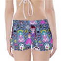 Blue Denim And Drawings Daisies Boyleg Bikini Wrap Bottoms View2