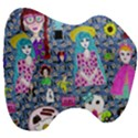 Blue Denim And Drawings Daisies Head Support Cushion View3