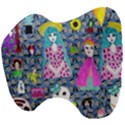 Blue Denim And Drawings Daisies Head Support Cushion View4