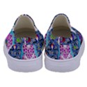 Blue Denim And Drawings Daisies Kids  Canvas Slip Ons View4