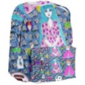Blue Denim And Drawings Daisies Giant Full Print Backpack View3