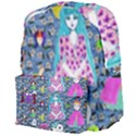 Blue Denim And Drawings Daisies Giant Full Print Backpack View4