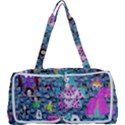 Blue Denim And Drawings Daisies Multi Function Bag View1