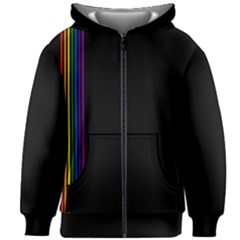 Conjuring Rainbows Kids  Zipper Hoodie Without Drawstring