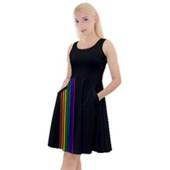 Conjuring Rainbows Knee Length Skater Dress With Pockets