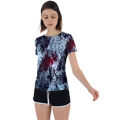 Flamelet Back Circle Cutout Sports Tee by Sparkle