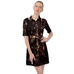Glowing Sparks Belted Shirt Dress