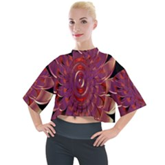Chakra Flower Mock Neck Tee by Sparkle
