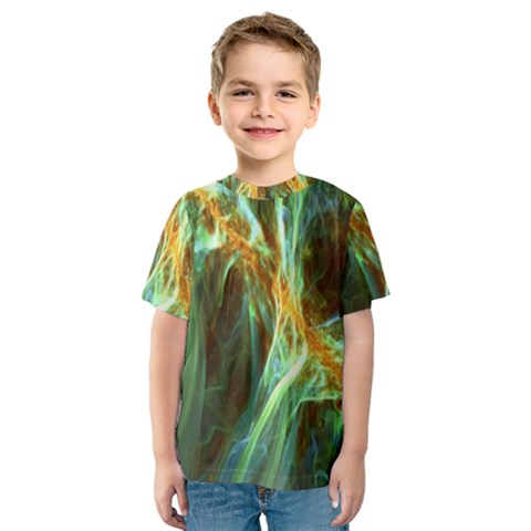Abstract Illusion Kids  Sport Mesh Tee by Sparkle