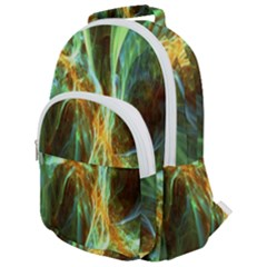 Abstract Illusion Rounded Multi Pocket Backpack by Sparkle